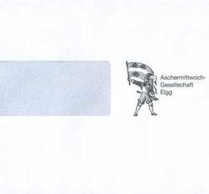 Briefcouvert Aschermittwochgesellschaft